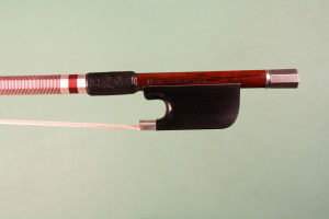 "Silver mounted viola bow, 2014, ""Voyageur"" model"